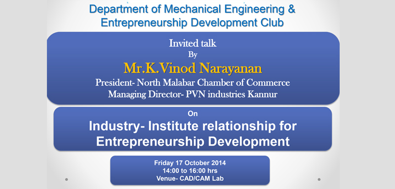 Invited Talk by Mr. Vinod Narayan
