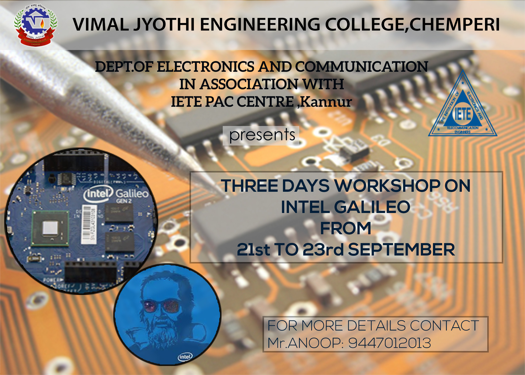 3 Days workshop on INTEL GALILEO