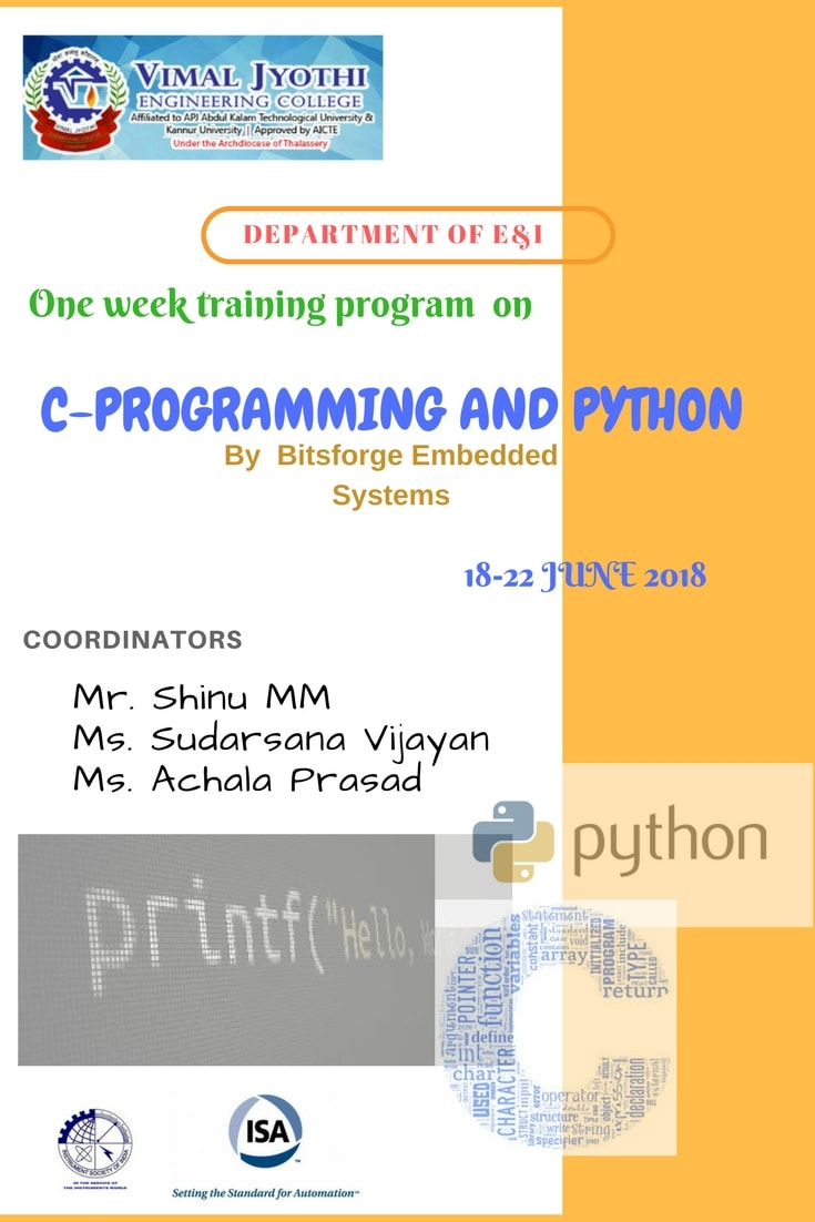 One week training program  on C-PROGRAMMING AND PYTHON