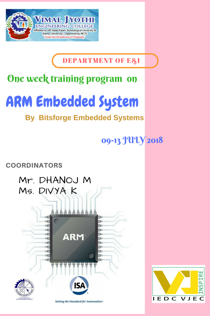 One Week Training Program  on ARM Embedded system