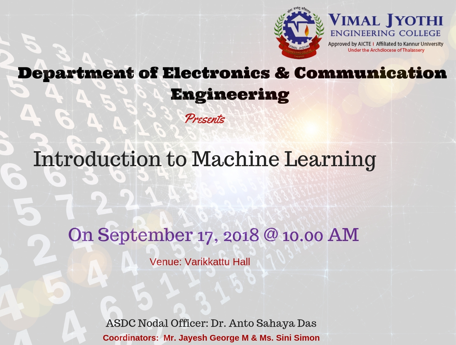 Orientation on Machine Learning course