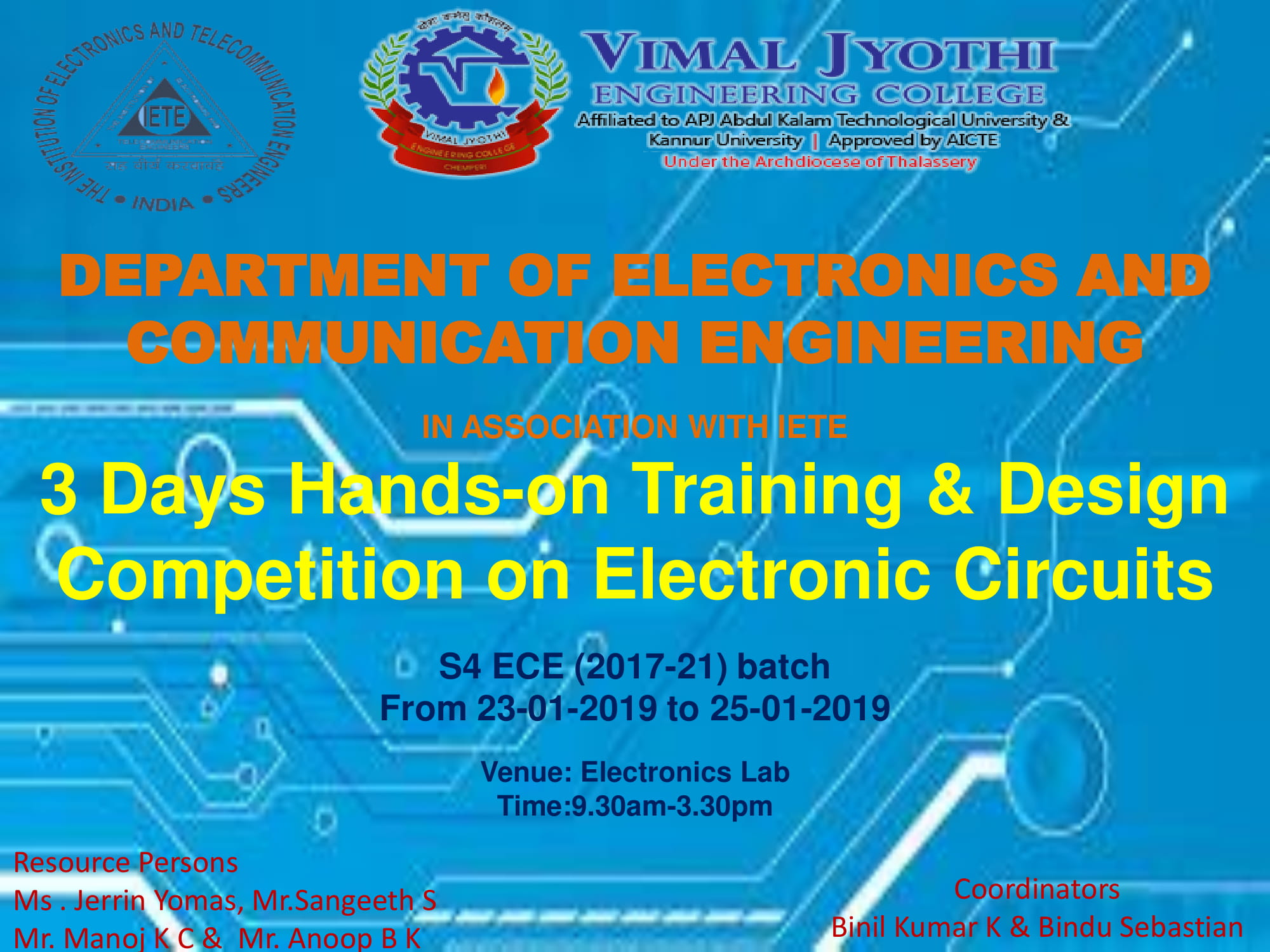 Department of Electronics and Communication & Engineering of