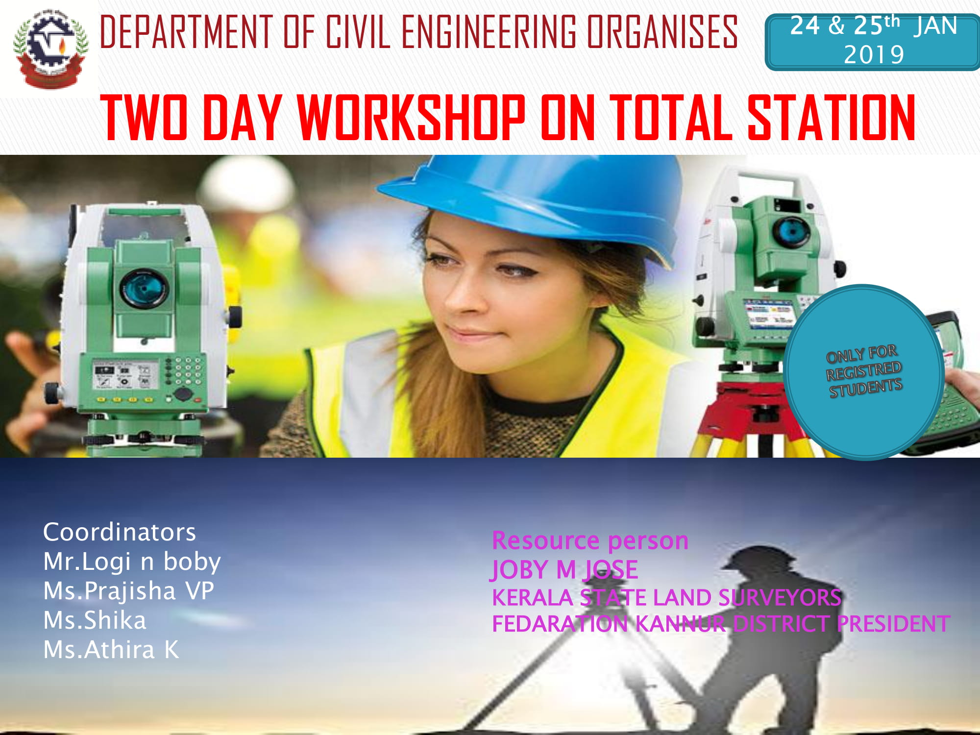 TWO DAY WORKSHOP ON TOTAL STATION