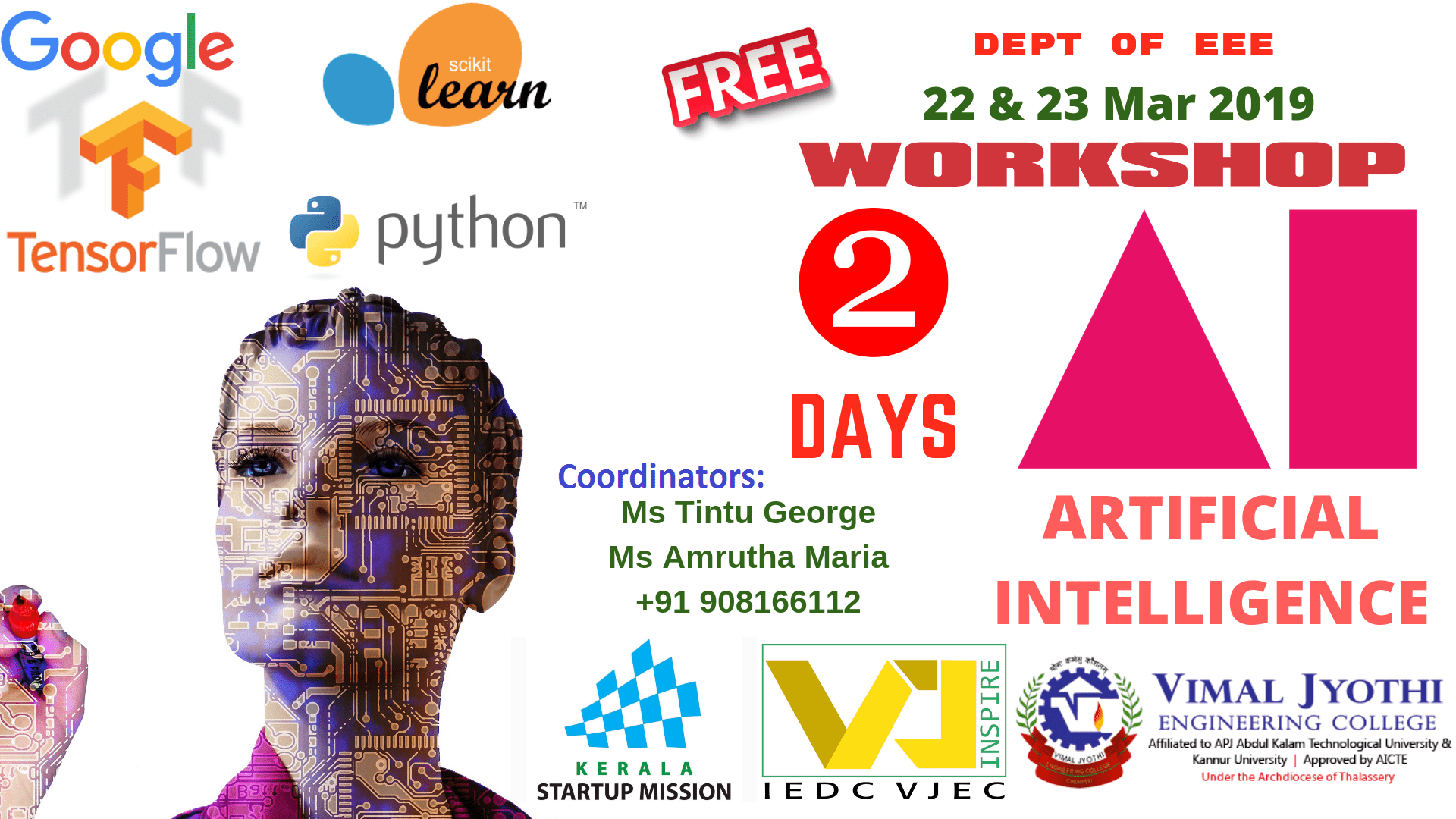 Two day workshop on Python  and Artificial Intelligence