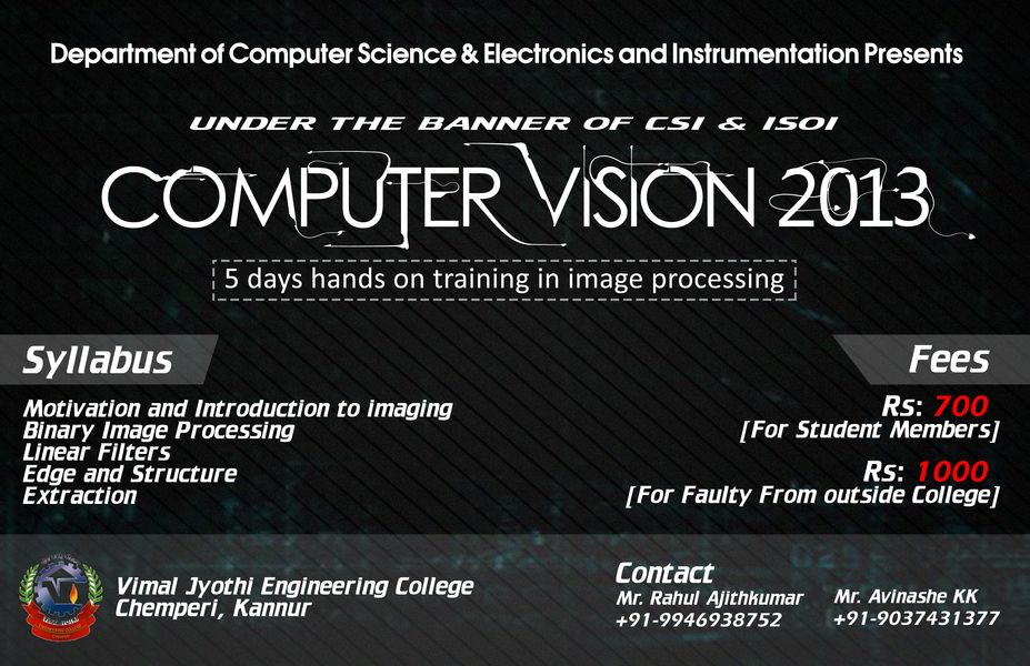 Workshop on Computer Vision