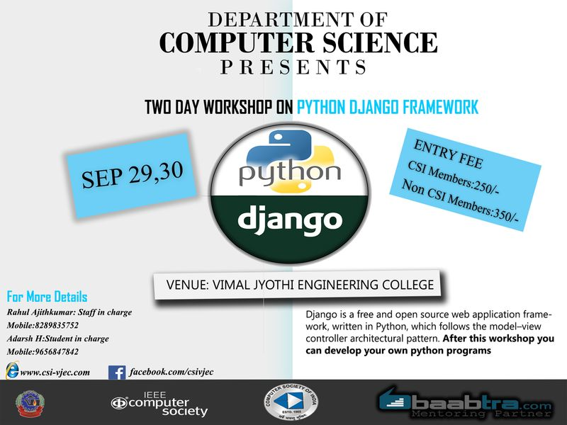Workshop on Python DJANGO Framework