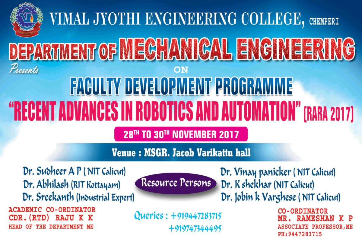 Notice Board of Vimal Jyothi Engineering College